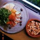turkish breakfast + chilli chicken side