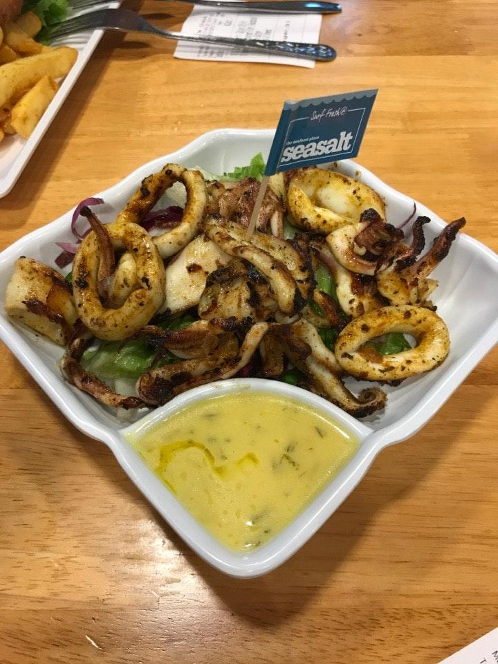 Grilled Calamari Cajun