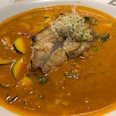 Grilled Seabass On Curried Vegetable
