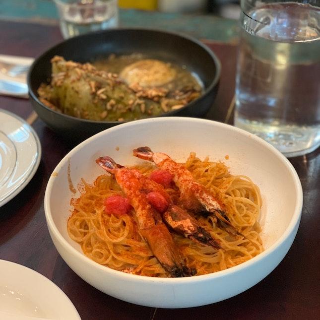 Mentaiko Belacan Pasta And Sugarloaf Cabbage