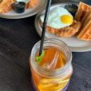 Chicken & Waffles, Carbonara, Mama June's Sweet Tea
