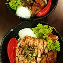 Aburi Mentaiko Salmon With Foie Gras, Truffle Yakiniku Steak Don With Foie Gras