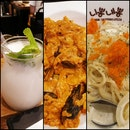 Keu Ppong Cream Noodles(18.90), Spicy Keu Risotto(16.90), Lychee Yogurt Drink(7.90)