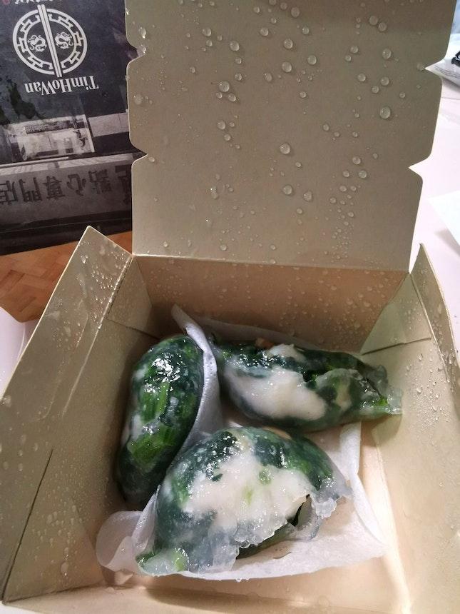 鲜虾菠菜饺  (6sgd)