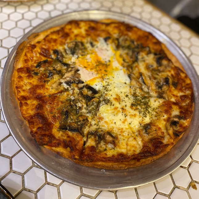 Truffle-scented Mushroom And Egg Pizza ($24)