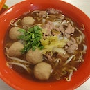 Mixed Beef Balls And Sliced Beef Noodle