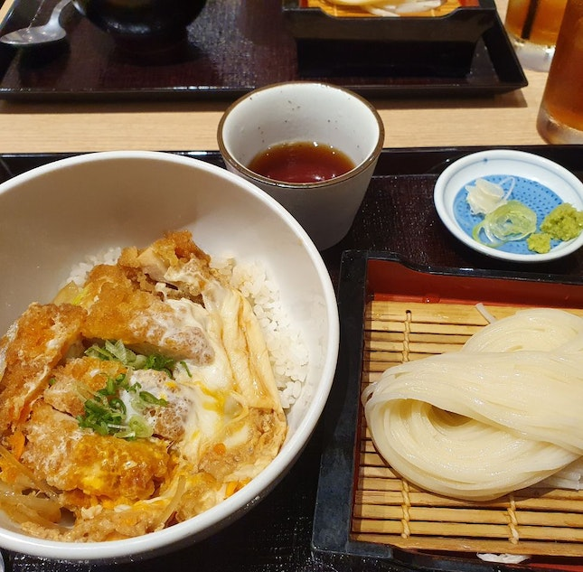 Chicken Katsu Don And Cold Udon Set