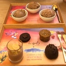 Chocolate pastry & ice cream tasting platters