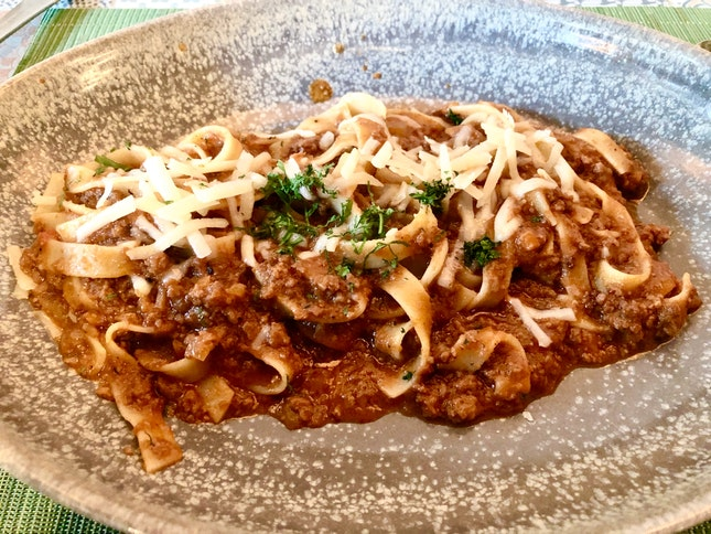 Fancy beef bolognese