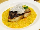 Pan Seared Sea bass With Pumpkin Butter Risotto