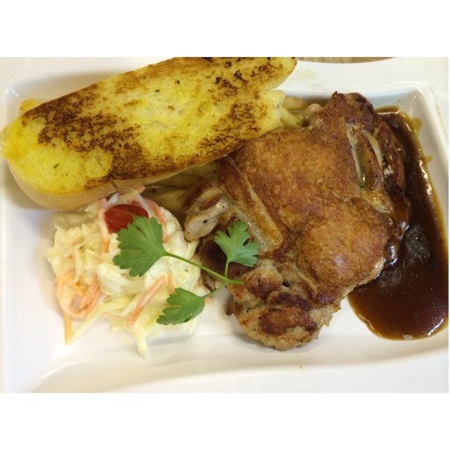Chicken Steak with Brown sauce