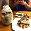 Matcha And Banana & Chocolate Waffle