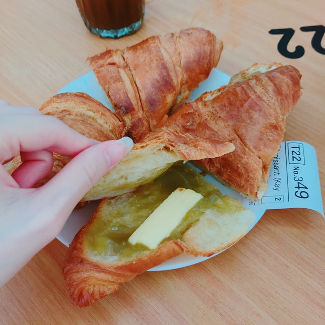 Croissant with Kaya And Butter