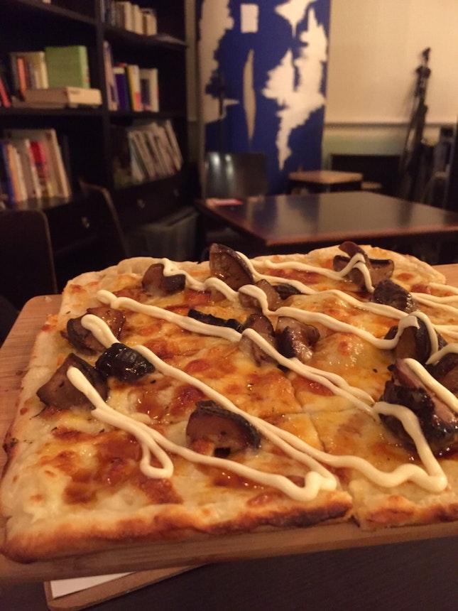 japanese mushroom pizza