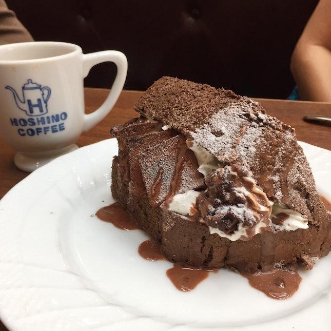 """chocolate """"book"""" chiffon cake"""