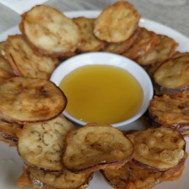 Delish Eggplant Chips With Honey