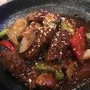 Black Pepper Beef With Foie Gra