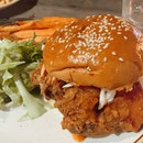 Sriracha Buffalo Chicken Burger ($16)