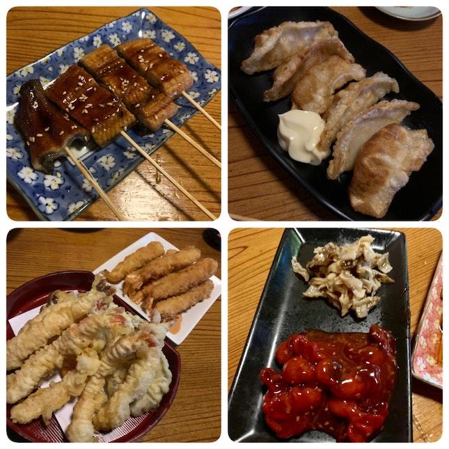 Unagi, Gyoza, Ebi & Chuka