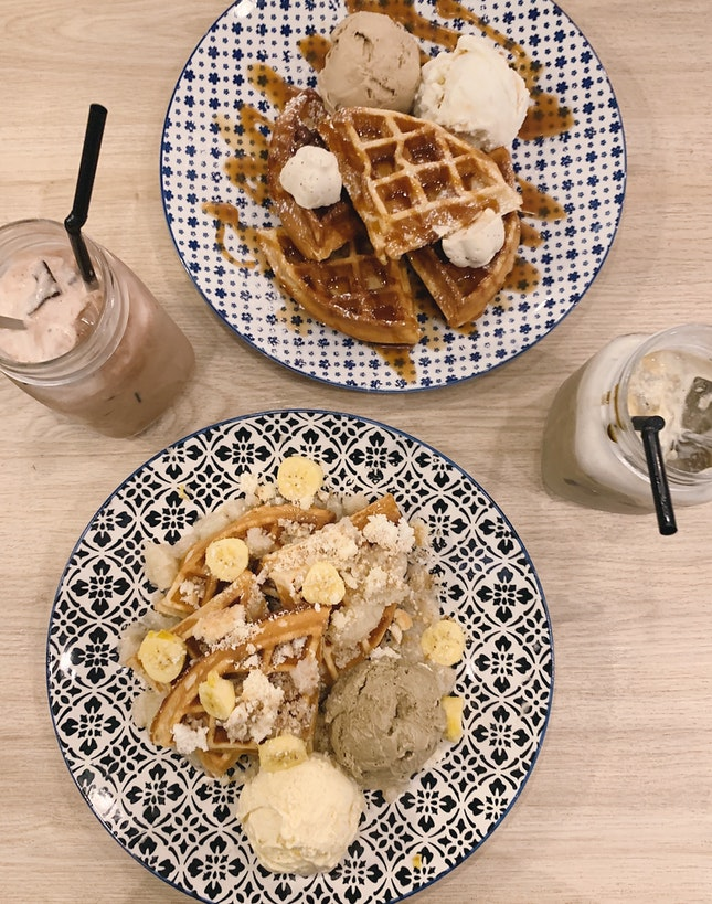 1 For 1 Waffle + Drink - $23.50