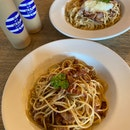 Pasta and Cold Brew Coffee