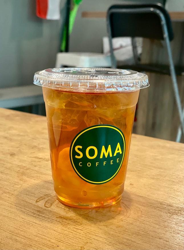 Iced Lychee Tea ($5)