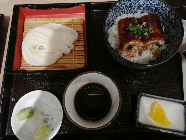 Cold Udon And Unagi Rice Don Set