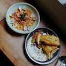 Laksa Pasta And Cod Fish And Chips (~$12/pax)