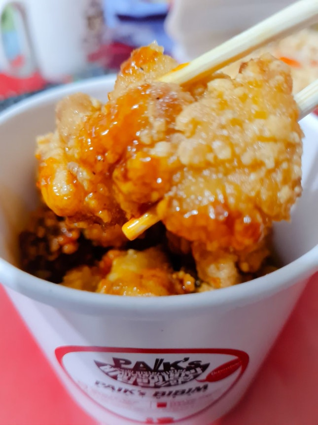 Sweet and spicy fried chicken