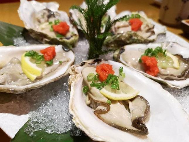 Fresh oysters airflown #oysters #oyster #seafood #delicious #yummy #foodhunt #foodporn #brianleowfoodhunt #yuzu #japanesefood #thegardens #malaysia instafood #foodinsta #foodie #fresh #airflown #burpple #burpplekl