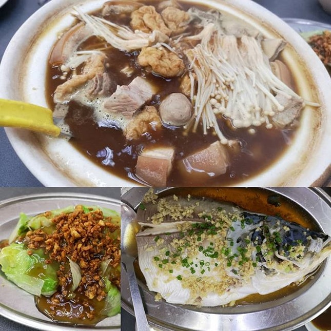 Bak Kut Teh, Steam fish and vegetables a simple meal for the whole family.