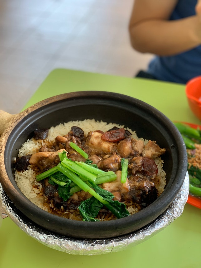 generous portion of claypot rice!