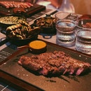 Featherblade Steak with Potato, Spinach & Mushroom