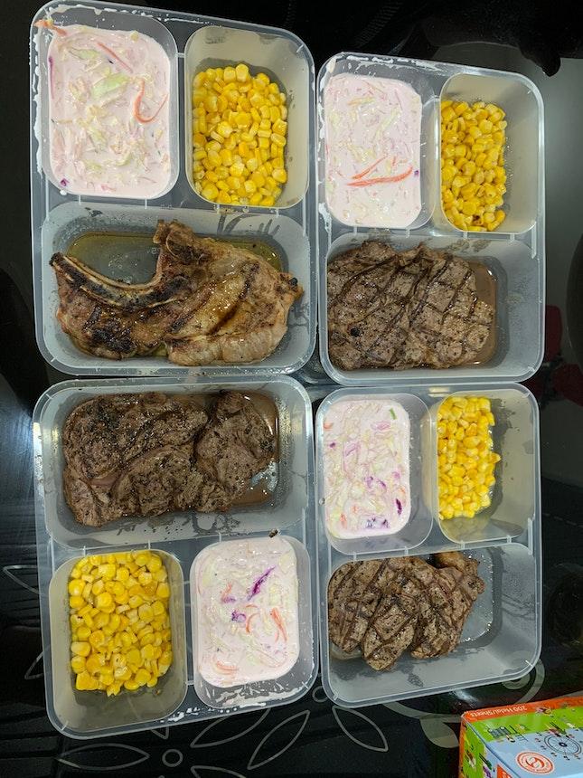 Ribeye Steak And US Pork chop