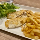 Mediterranean Snapper And Truffle Pork Chop $16~