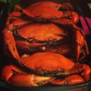 Baked crabs for dinner.