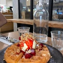 Strawberry Compote Waffle $13.90