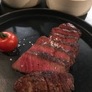 Great alternative steak cuts, hearty portions and convenient location.
