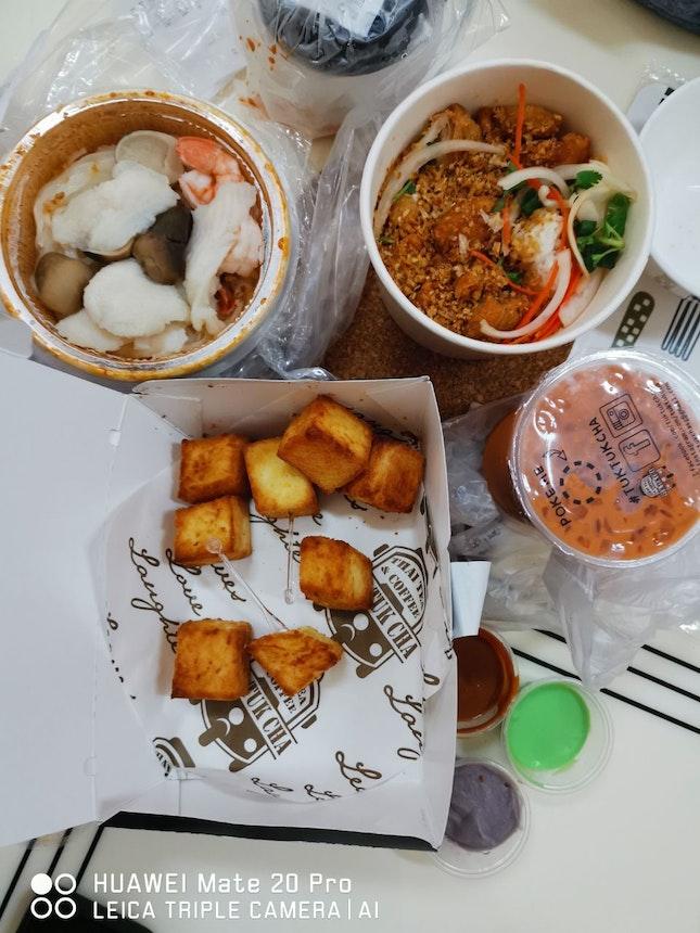 Delicious Lunch Plus Dessert