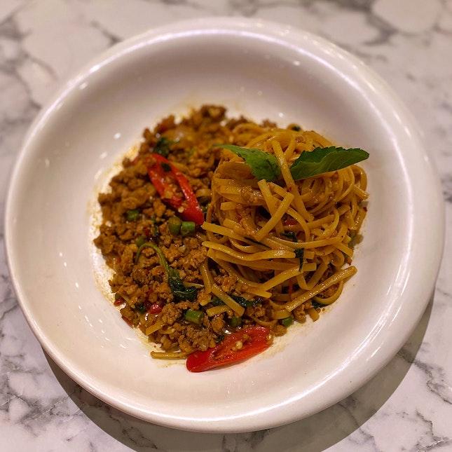 Fiery Thai Basil Chicken Pasta