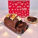 Flourless Chocolate Log Cake
