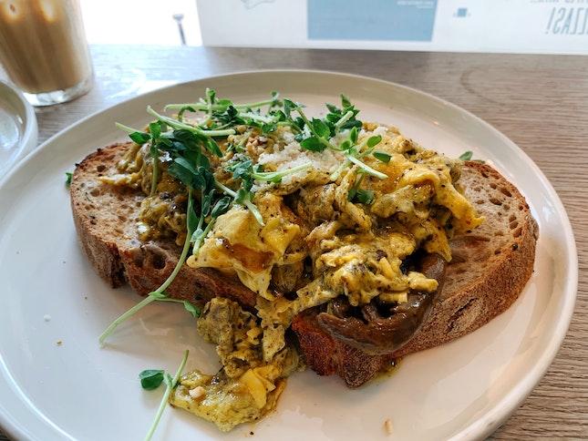 Truffle Mushroom Scrambled Egg ($20)