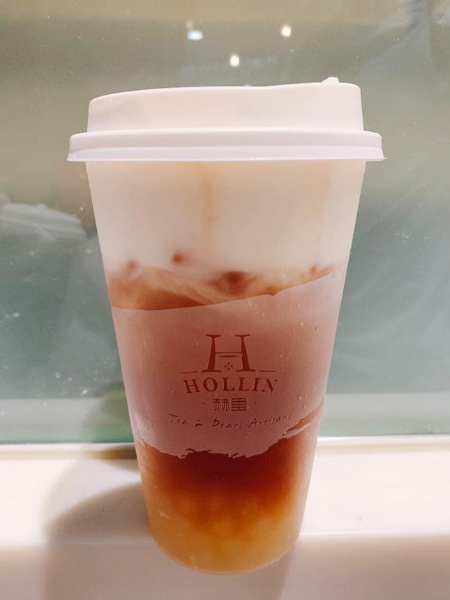 Caramel Black Tea Macchiato ($4.20) + Pearl ($0.80)
