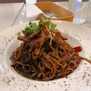 Spicy Black Pepper Beef Pasta ($19.50)