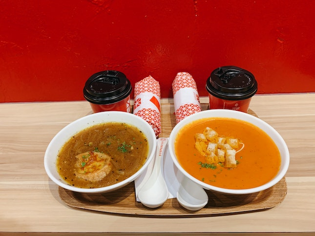 Soup + Traditional Popiah Combo + Drink ($8.50)