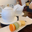 2 Macarons + Tea ($12.50 per set)