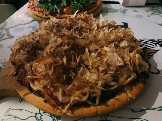 Special Mayo Calamari Pizza ($17.90)