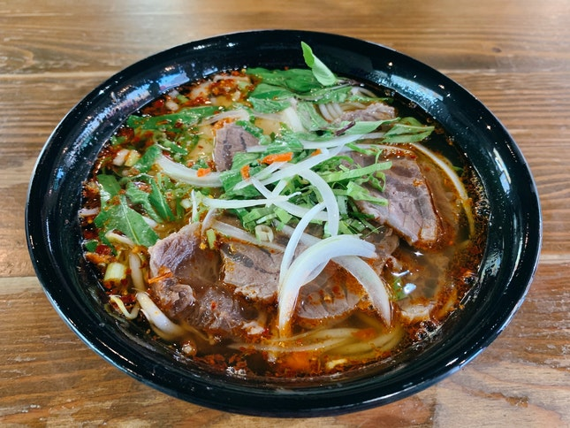 Spicy Beef Noodle Soup ($6.50)
