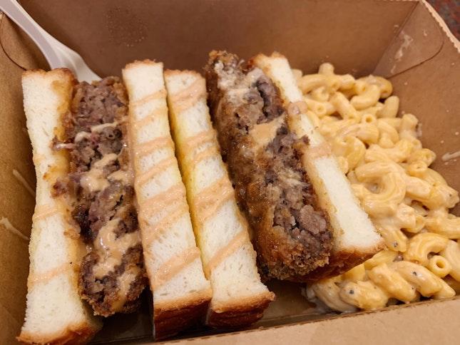 Patty Katsu w Mac & Cheese ($9.90)