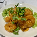 Deep Fried Prawns With Creamy Salted Egg Sauce (M) | $21.90